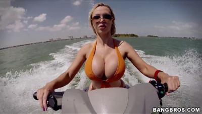 Nikki Benz – Big Tits Blonde Rides Waves and Cock at Beach
