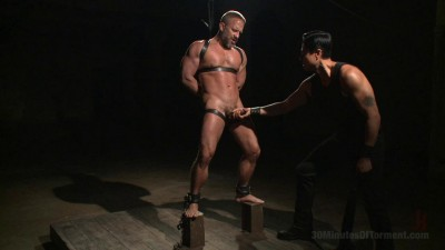 Muscled hunk Dirk Caber relentlessly tormented and