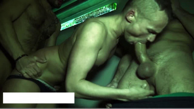 Yo gets filled up by two xtra hung guys