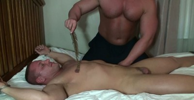 Brock Vinson bound and tickled