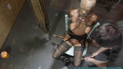 Thighs Spread Chair Tie For Amanda Fox 2 Part – BDSM, Humiliation, Torture HD-720p