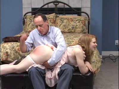 Mr. Lawrences will and bravely endures a hard hand spanking and an embarrassing spanking