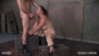 Bella Rossi And Her Huge Tits, And Booming Body Are Bound On A Sybian, Roughly Face Fucked
