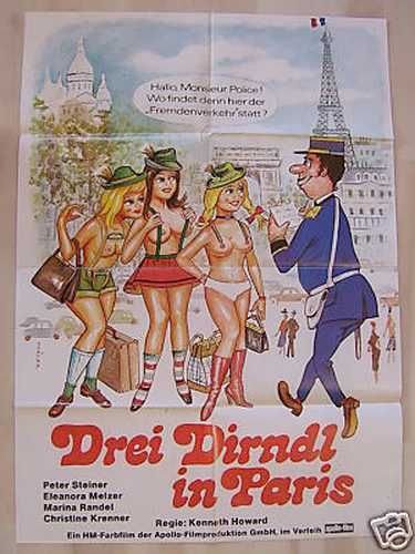Drei Dirndl in Paris
