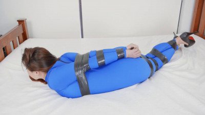 Restricted Senses – Taped In Blue Catsuit
