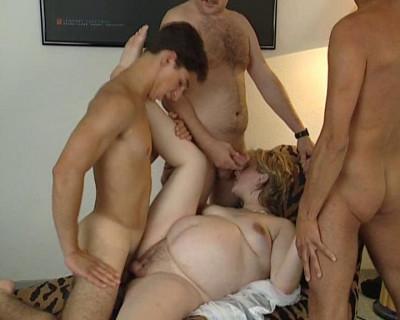Preggo and three men