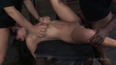 SB – Amazing MILF With Booming Body, Gets Her First Hardcore Bondage Threeway
