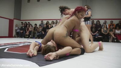 Squirting Orgasms, Real Wrestling, Sex fighting at its finest