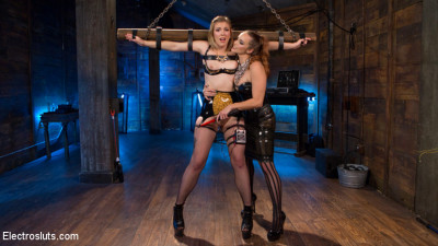 Electro Latex Dungeon – Bella Rossi Shocks & Fucks Tough Slut Ella Nova