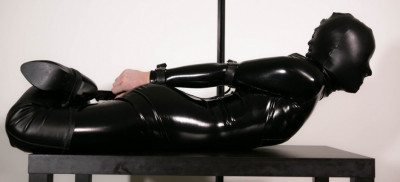 Restricted Senses - Black Catsuit + Hood & Belts