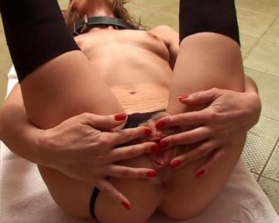 Paddling a slavegirl