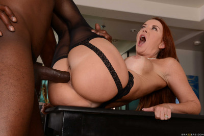 Redhead Lady Fucks On A Kitchen Table