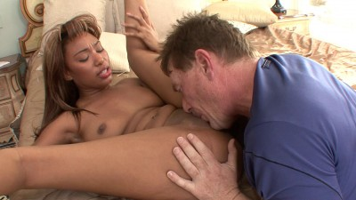 Daddy bangs ebony babe