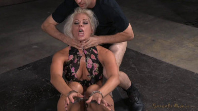 SexuallyBroken - Jul 22, 2015 - Sexy blonde Holly Heart ragdoll fucked in cuffs with drooling
