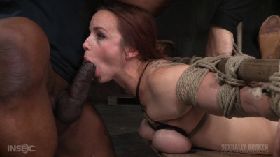 Busty Bella Rossi BaRS Show With Epic BBC Deepthroat, Tited Tits And Strict Challenging Bondage