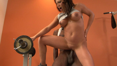 Busty babe is hurngry for BBC