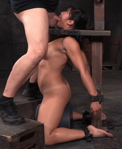 Busty Asian Mia Li Shackled To Sybian