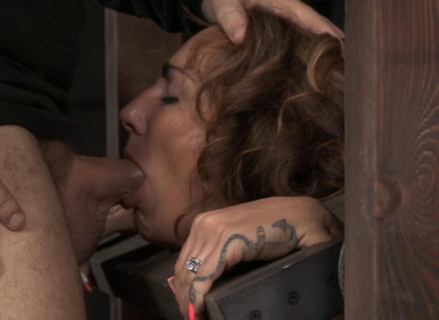Toned Savannah Fox in stocks stuck on sybian with massive multiple orgasms, epic drooling deepthroat