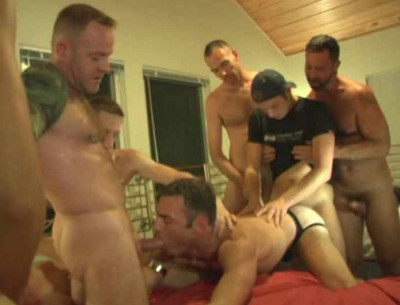 Raw gangbang with double penetration