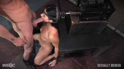 The ultimate MILF is bound on the world's only face fucking machine and on a sybian!