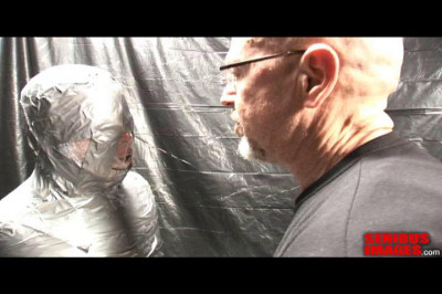 SI – Medical Toys Mummification Fetish Fun With Plastic And Duct Tape