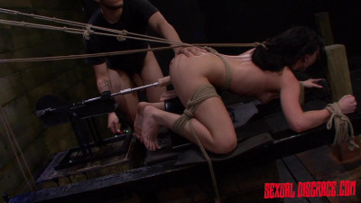 Nikki Bell Continues Fucking Machine Rope Bondage For Her Master's Cum (2015)