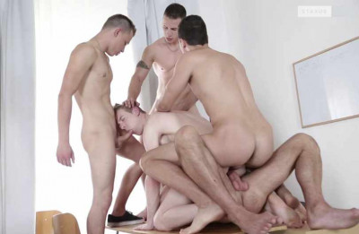 Young Boys In Gangbang & Double-Fucked