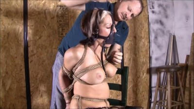 Playboy Playmate Courtney Cameron's First Time In Bondage
