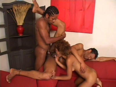 A Black Bisexual Threesome Gets Hot