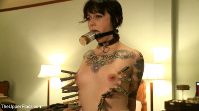 Head maid Iona is fisted for the first time by eager sex slaves