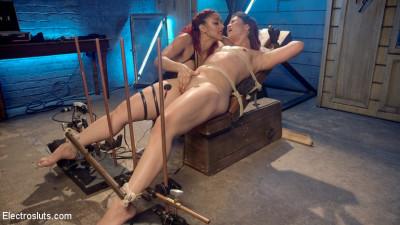 The Lesbian Electro Initiation of an Athletic Slut!
