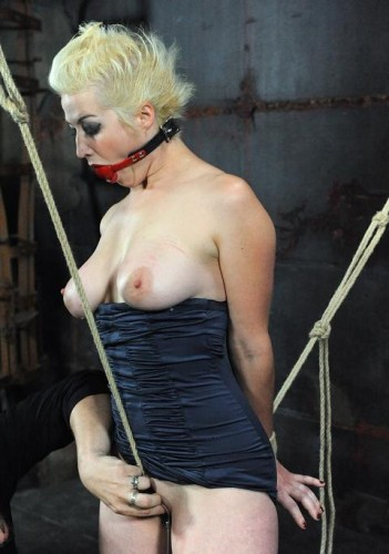 Hot blonde and orgasms in bondage