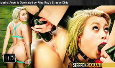 StraponSquad - Aug 22, 2014 - Marina Angel is Dominated by Riley Ray's Strapon Dildo