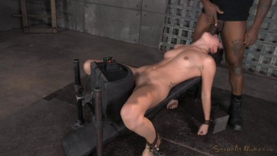 Spunky Marley Blaze gets restrained on a sybian and does epic drooling deepthroat on 10 inch BBC!
