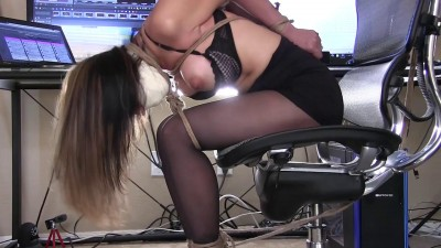Bondage Blowjob In The Office Part 1