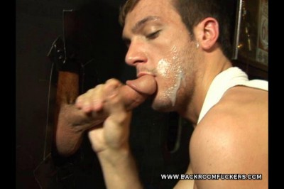 Backroom Glory Hole Cock Sucking