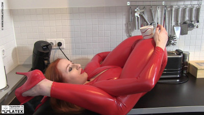 Fascinating Dolls Pose In a Covered Latex Part 2