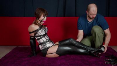 Belted Blindfolded and Hogtied