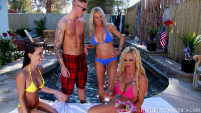Emma Starr, Jessica Jaymes, Nikki Benz - Group Sex Witn Delivery Man (2014)