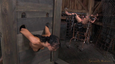 SexuallyBroken – Aug 21, 2015 – Two Well Used Barn Sluts Restrained In Strict Bondage