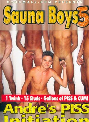 Sauna Boys 5: Andre's Piss Initiation