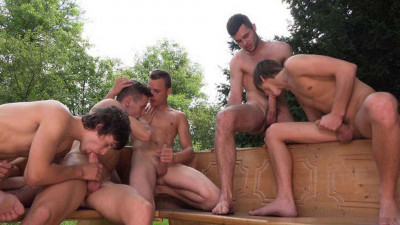 "Hugo, Zdenek, Alan, Danek & Paul in ""Wank Party 2014 #5, Part 1"" (720p)"