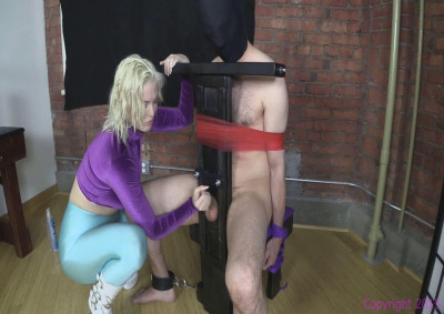 Brat Punches Balls And Jerks Dick