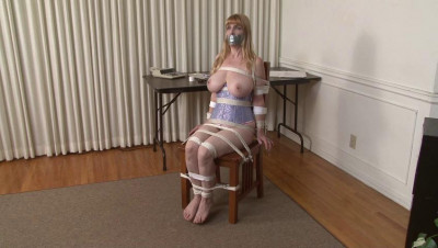Bound And Gagged -Rope And Tape Chair Bondage For Lorelei – By Jon Woods