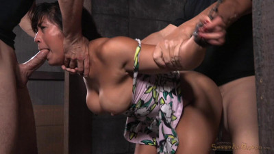 Chained Down And Roughly Fucked From Both Ends By Big Dick