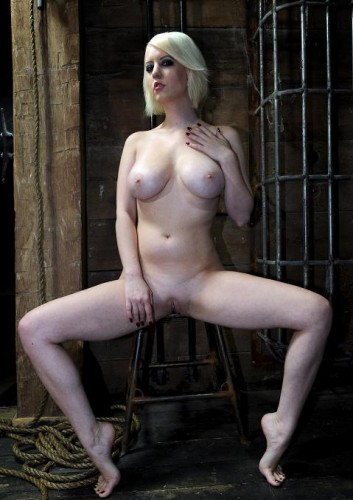 Brutal breast bondage for Torn