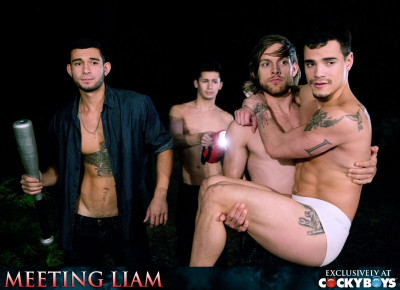 CockyBoys — Meeting Liam — Liam Riley, Levi Karter, Ricky Roman and Tayte Hanson