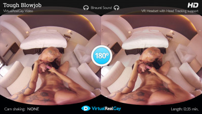 Virtual Real Gay — Tough Blowjob
