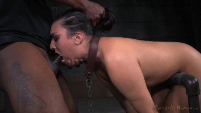 Girl next door Paisley Parker bound in device bondage and roughly fucked, deepthroat on BBC!