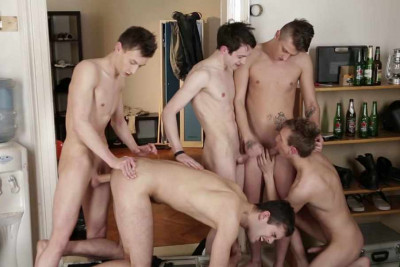 Horny Buddies In Hot Orgy